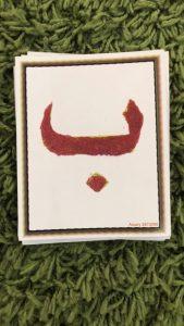 alphabet flash card sand letters