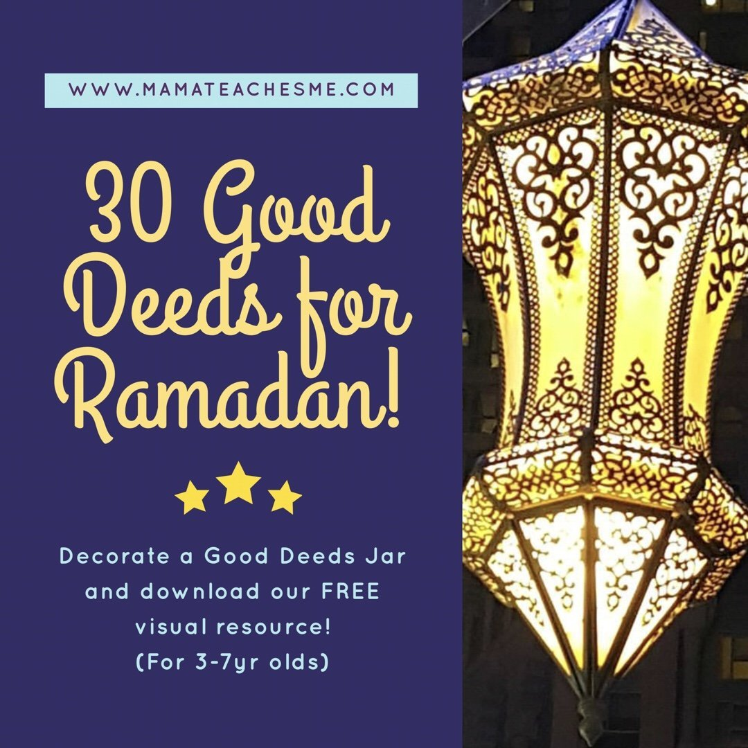 Make a Ramadan Good Deeds Jar + Calendar this Ramadan (Free Download Eng & Arabic)