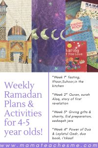 weekly ramadan plan 4-5 year olds