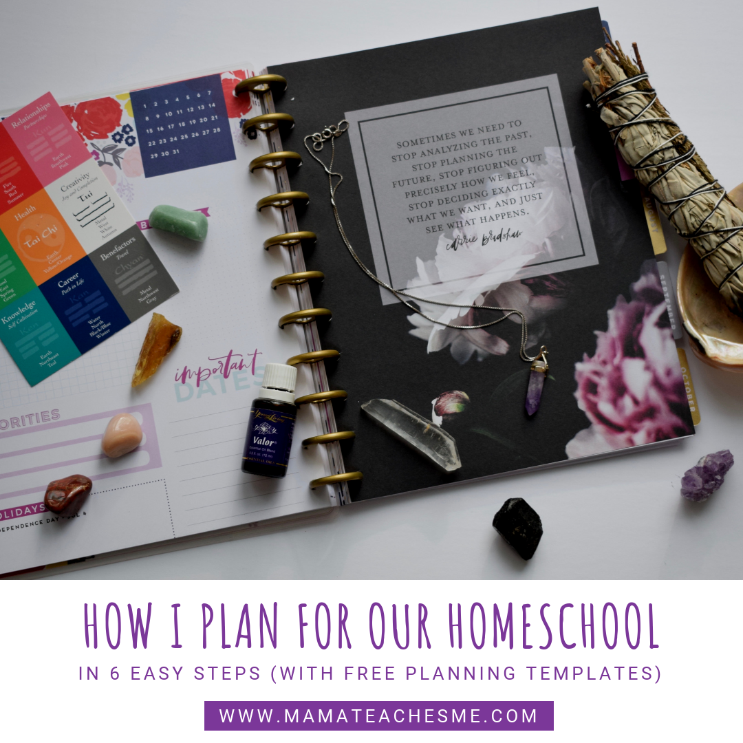 How I Plan for Our Homeschool + FREE Planning Templates!