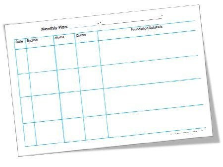 FREE Monthly Plan Template