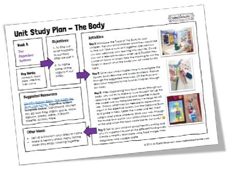 Mama Teaches Me Planning: The Body (4 week Unit Study)