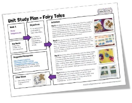 """<span itemprop=""""name"""">Mama Teaches Me Planning: Fairy Tales (4 Week Unit Study)</span>"""