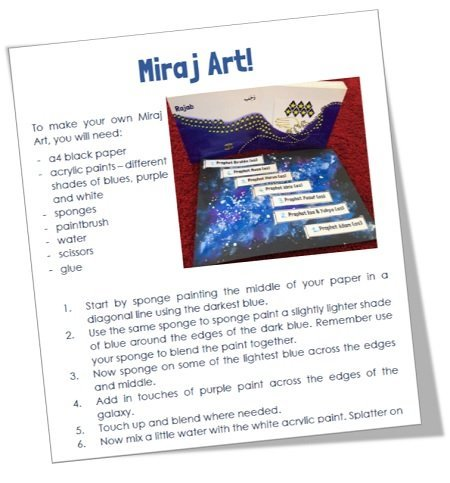 "<span itemprop=""name"">Mama Teaches Me Seerah: Miraj Art – FREE Resource!</span>"