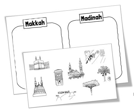 Makkah and Madinah Sorting Activity
