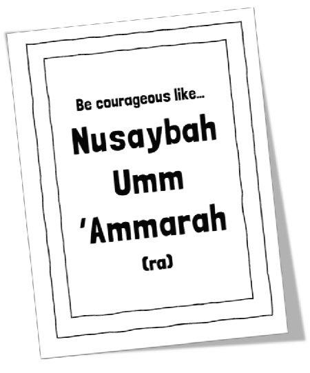 """<span itemprop=""""name"""">MTM Stories: Be courageous like Nusaybah Umm 'Ammarah (ra)</span>"""
