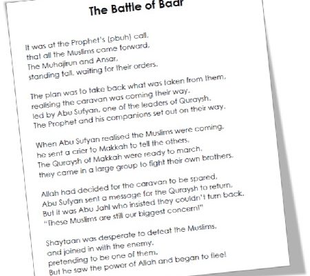 MTM Seerah: The Battle of Badr Poem