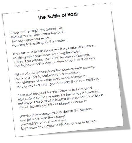 """<span itemprop=""""name"""">MTM Seerah: The Battle of Badr Poem</span>"""