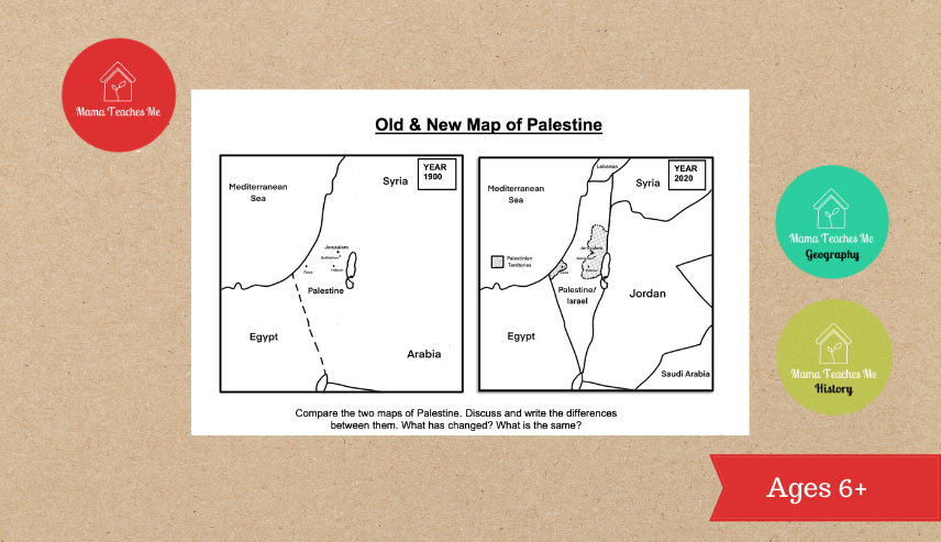 palestine map for kids
